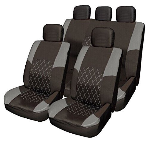 Car Seat Covers Nissan Cabstar SWB 2000 Deluxe Luxury Foam Cloth Van Seat Covers Black Blue Panels