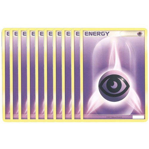 Pokemon Cards - LOT OF 10 PSYCHIC ENERGY Cards (purple) (10 Psychic Energy Pokemon compare prices)
