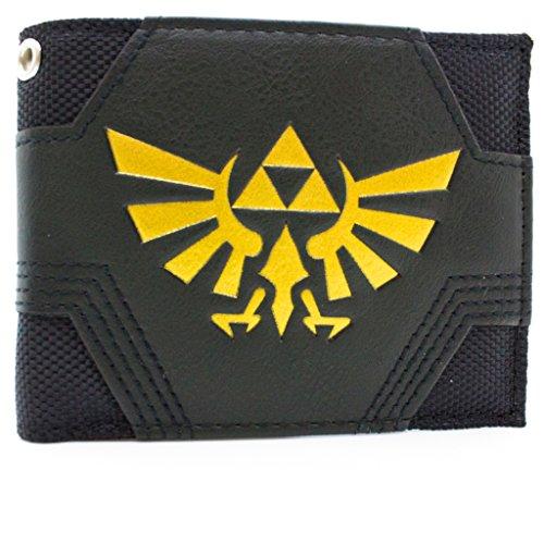 Nintendo Zelda Tessuto d'oro Triforce Nero portafoglio