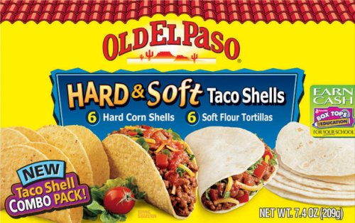 Old El Paso 6 Hard Corn Taco Shells and 6 Soft Flour Tortillas 7.4 oz. net