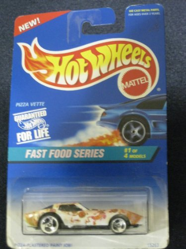 Hotwheels Pizza Vette-Fast Food Series #1 of 4 #416 - 1