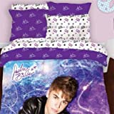 51NJKthBwQL. SL160  Justin Bieber Starburst Comforter and Sham Full/ 3 piece set