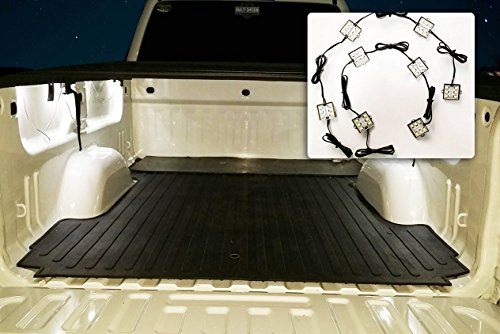 Zone Tech 8 Piece Universal Premium Quality Waterproof Pure White Truck Bed LED Lighting 48 Ultra Bright SMDs for Pickups- Motorcycles-Trucks-Boats and Under Cabinet Lighting Kit (Car And Trucks Accesories compare prices)