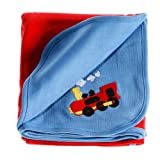 Anna Claire Beautiful Designed Baby Receiving Blanket, Double Sided Designs, Swaddle Blankets (Choo Choo) ~ ZZ Home