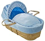 Clair de Lune Marshmallow Palm Moses Basket (Blue)