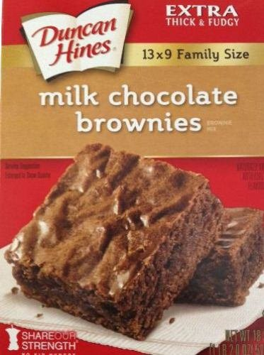 Duncan Hines Brownie Mix, Milk Chocolate, 18-Ounce Boxes (Pack of 6)