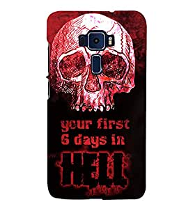 Skull Hell Days 3D Hard Polycarbonate Designer Back Case Cover for Asus Zenfone 3 Deluxe ZS570KL