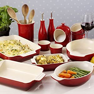 ProCook Red Oven To Table Dish 39cm Rectangular