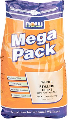NOW Foods Whole Psyllium Husk, Mega Pack, 10 Pound Bag