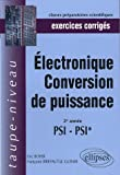 Electronique conversion de puissance : Exercices corrig�s 2e ann�e PSI-PSI
