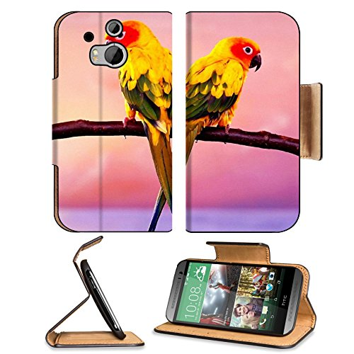 Parrots Color Tail Branch Sit Htc One M8 Flip Case Stand Magnetic Cover Open Ports Customized Made To Order Support Ready Premium Deluxe Pu Leather 6 4/16 Inch (158Mm) X 3 4/16 Inch (82Mm) X 9/16 Inch (14Mm) Liil Htc1 Cover Professional M 8 Cases M_8 Acce front-517013