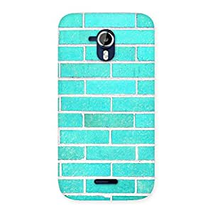 Premium Brick Cyan Back Case Cover for Micromax Canvas Magnus A117