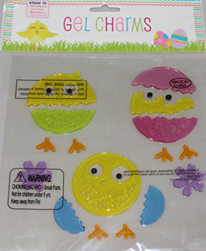 Hatching Chicks Easter Eggs Gel Window Clings - 1