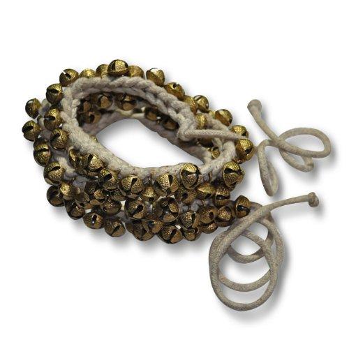 Kathak ghung Roo Pair, (100+ 100) campane con cordicella di cotone Tied