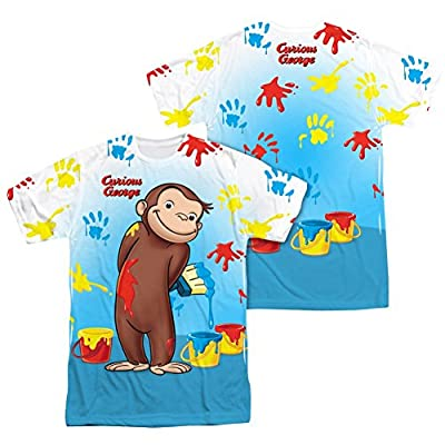 Curious George Paint Everywhere All Over Print Front / Back T-Shirt