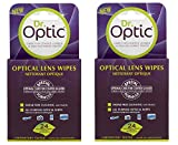 2 x Dr Optic Optical Lens Cleaning Wipes for Glasses LCD TV iPad Camera Laptop 24 Pk