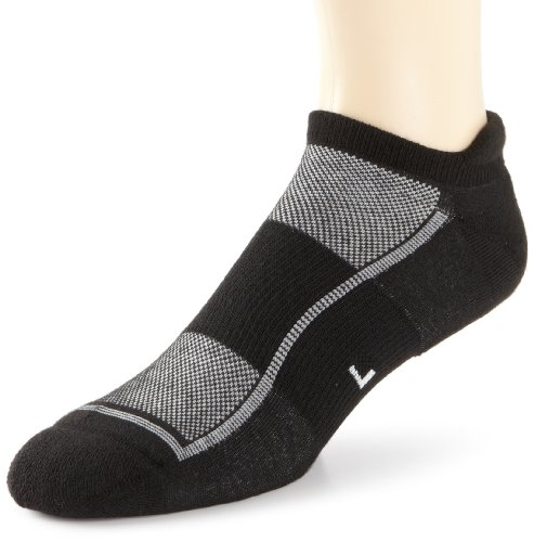 Feetures Socks Feetures Men's Light Cushion No Show Socks, Large (Men's 9-12 / Women's 10-13), Black