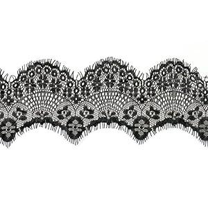 Black Eyelash Lace Trim 8.5cm(4.72'') wide Embroidery Wedding Lace ...
