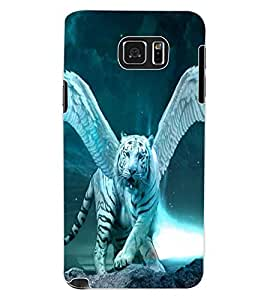ColourCraft Flying Tiger Design Back Case Cover for SAMSUNG GALAXY NOTE 5