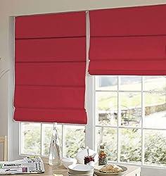PRESTO BAZAAR 1 Piece Polyester Solid Blind - Red