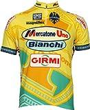 自転車ウェア 「Mercatone UNO」 Bianchi 復刻版ジャージ パンターニ  ビアンキ Lサイズ