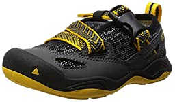 KEEN Komodo Dragon Sandal (Toddler/Little Kid), Black/Yellow, 11 M US Little Kid