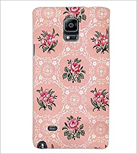 PrintDhaba Floral Pattern D-2112 Back Case Cover for SAMSUNG GALAXY NOTE 2 (Multi-Coloured)