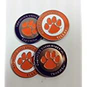 Clemson 2-sided Golf Ball Markers (lot Of 4)