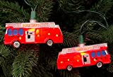 Set of 10 Fire Department Red Truck Christmas Lights - Green Wire