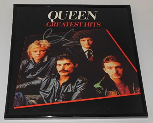 Queen Greatest Hits Brian May Signed Autographed Lp Record Album with Vinyl Framed Loa (Queen Vinyl Made In Heaven compare prices)