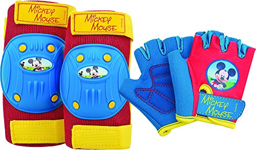 Bell Mickey Mouse Protective Gear with Elbow Pads/Knee Pads and Gloves - 1