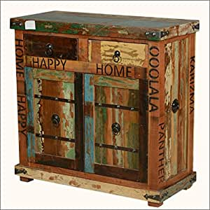 Happy Home Rustic Reclaimed Wood Furniture Storage Cabinet Buffets Sideboards