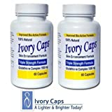 IvoryCaps Skin Whitening Lightening Pill Ivory Caps Glutathione Pills (Pack of 2) 100% Natural , no side affectsby IvoryCaps