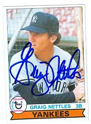 Graig Nettles autographed baseball card (New York Yankees) 1979 Topps #460 (67)