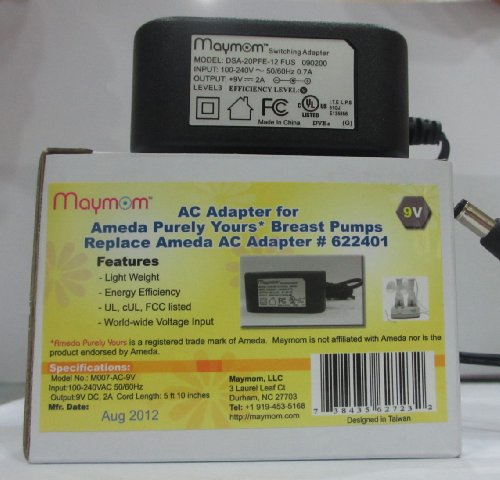 Maymom Ac Adapter For Ameda'S Purely Yours Breast Pumps, Replacement For Ameda Ac Adaptor 622401; Light & Compact front-249053