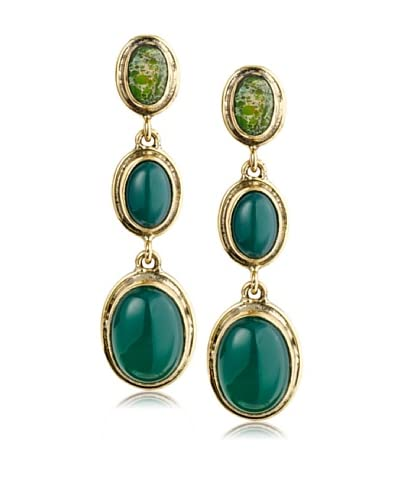 Saachi Triple Stone Post Earrings