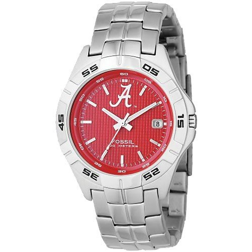 Fossil Men's LI2754 NCAA Alabama Crimson Tide Round Dial Watch
