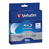 Verbatim 97335 50 GB 6x Blu-ray Double Layer Recordable Disc BD-R DL, 10-Disc Spindle