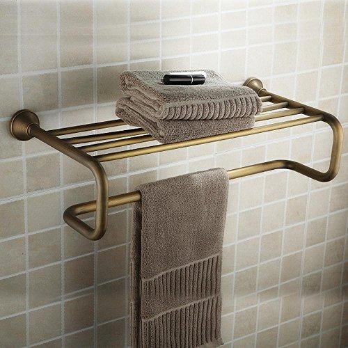 GS~LY Ottone anticato puro alta qualità asciugamani asciugamano bagno accessori rack