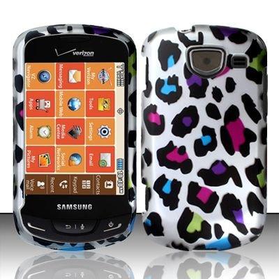 Zizo Cell Phone Case Cover Skin for Samsung U380 Brightside (Leopard -MultiColor) - Verizon
