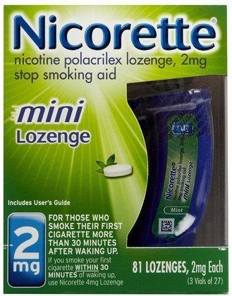 Nicorette OTC Stop Smoking Mini-Lozenge, 2mg-81 ct. (Quantity of 1)