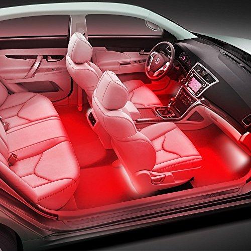 Thunder 4pcs Dc 12v Car Interior Led Light Underdash Lighting Kit Auto Decorative Atmosphere