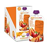 Happy Tot Organic Baby Food, Sweet Potato, Apple, Carrot and Cinnamon, 4.22-Ounce Pouches (Pack of 16)