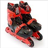 Verstellbare Inline Skates Rollerskater Inliner für Kinder Größe 34-37