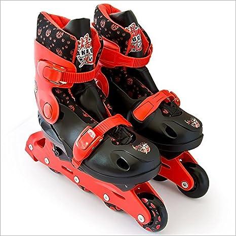 Sega Bakugan Rollerblades Rollers à 4 roues avec système de réglage de taille de 34 à 37
