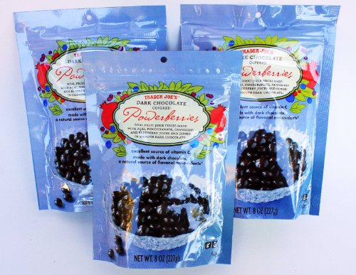 Trader Joe&#8217;s Dark Chocolate Covered Power Berries with Acai, Pomegranate, Cranberry and Blueberry &#8211; 3 PACK