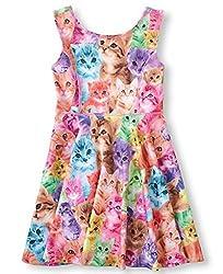 JXStar® Little Girl's Classical Animals Printed Sleeveless Summer Dress