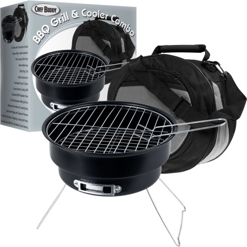 Chef Buddy Portable Grill and Cooler Combo (Small Bbq Pit compare prices)