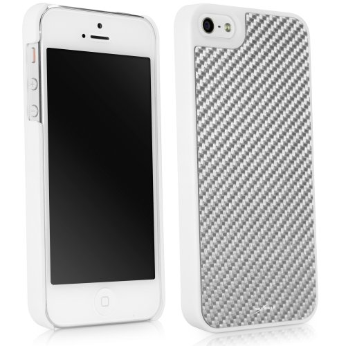 Best Price BoxWave True Carbon Fiber Minimus Apple iPhone 5s / 5 Case - Ultra Lightweight, Slim, Durable, Carbon Fiber Apple iPhone 5s / 5 Shell Case (Winter White)