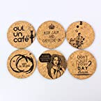 Cork Drink Coasters - Set of 6